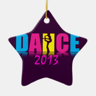 Personalized Dance Dancer Double-Sided Star Ceramic Christmas Ornament