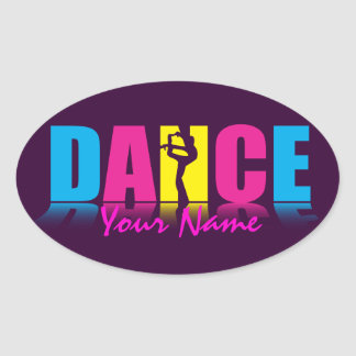 Personalized Dance Dancer Oval Sticker
