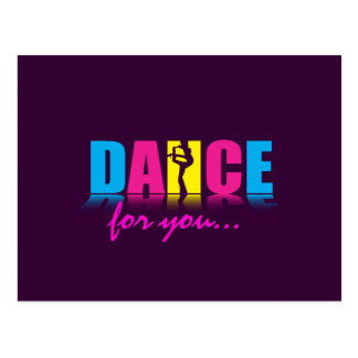 Personalized Dance Dancer Postcard
