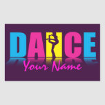 Personalized Dance Dancer Rectangle Sticker