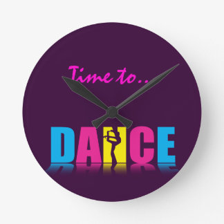 Personalized Dance Dancer Round Clock