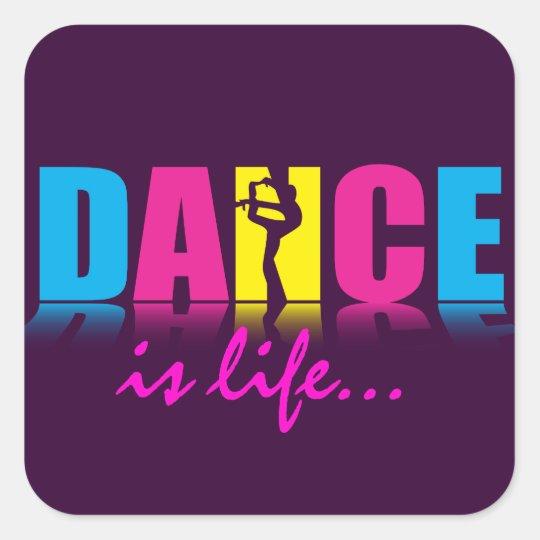 Personalized Dance Dancer Square Sticker