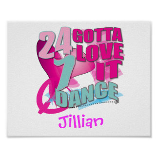 Personalized DANCE Gifts Posters
