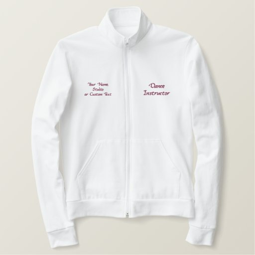 Personalized Dance Instructor Track Jacket