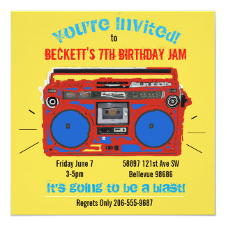 Personalized Dance Party birthday invite