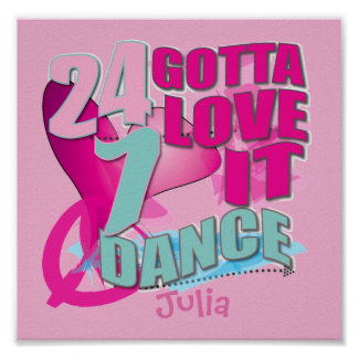 Personalized Dance Posters