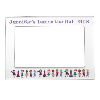 Personalized Dance Recital Gift Ballet Tap Lyrical Magnetic Picture Frame