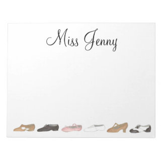 Personalized Dance Shoes Teacher Gift Notepad