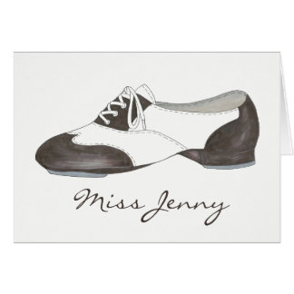 Personalized Dance Teacher Gift Tap Oxford Shoe Card
