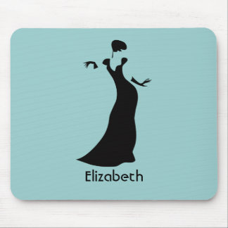 Personalized Dancer in Black Formal Dress Mouse Pad