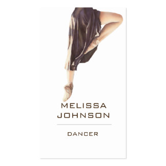 Personalized Dancer Modern Business Cart Business Card