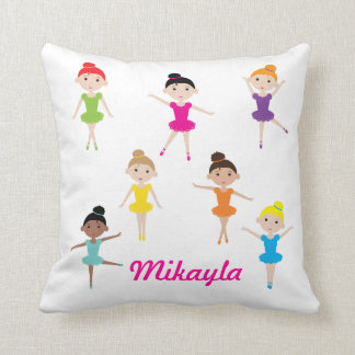 Personalized Dancing Ballerina Pillow
