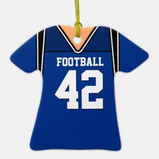 Personalized Dark Blue Football Jersey 42 V1 Ornament