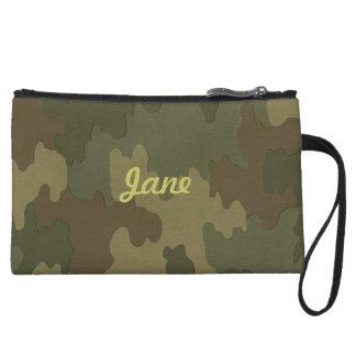 Personalized Dark Camouflage Clutch Purse