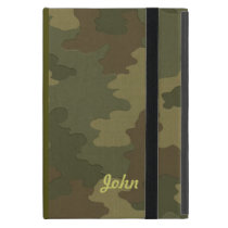 Personalized Dark Camouflage iPad Mini Case