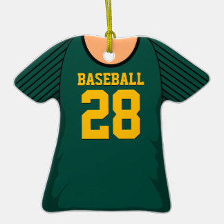 Personalized Dark Green Baseball Jersey 28 V1 Christmas Ornament