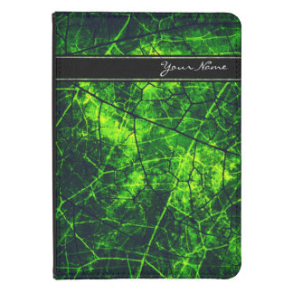 Personalized Dark Green Crackle Grunge Texture Kindle Cover