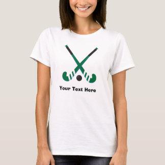 Personalized Dark Green Field Hockey Player T-Shirt