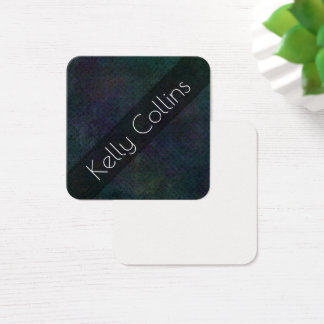 Personalized Dark Grunge Abstract Art Message Note Square Business Card
