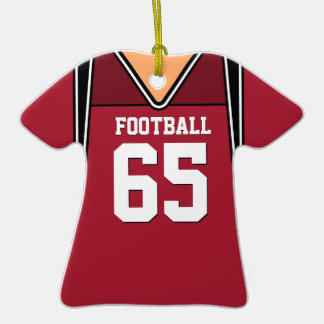 Personalized Dark Red Football Jersey 65 V1 Ornament