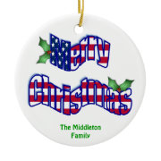 Personalized Dated Chritmas Ornament ornament