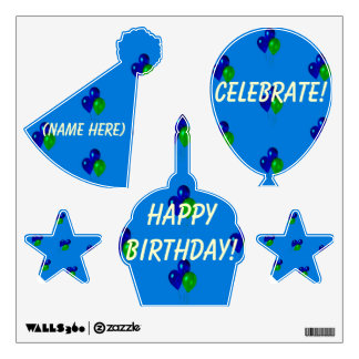 Personalized Decals for Toddler Birthday Party Wal