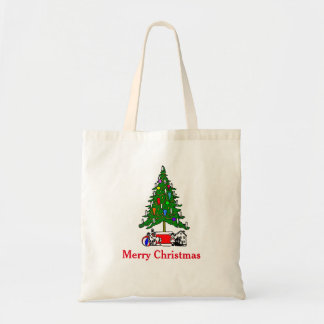Personalized Decorative Christmas Tree Gift Tote Bag