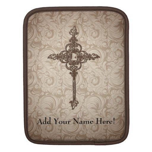 Personalized Decorative Cross Tablet Sleeve iPad Sleeve
