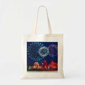 Personalized Decorative Merry Christmas Lighting Tote Bag