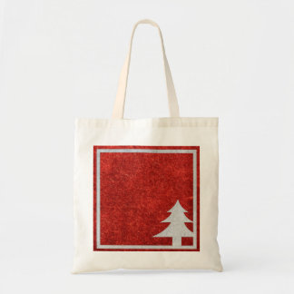 Personalized Decorative Merry Christmas Tree Tote Bag