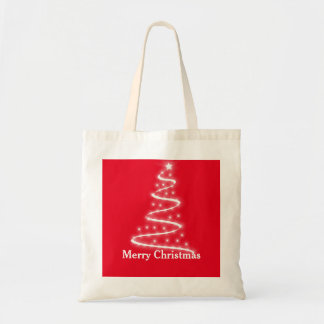 Personalized Decorative Santa Tree Christmas Gift Tote Bag