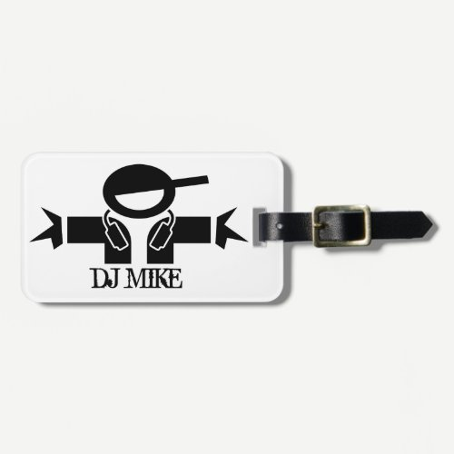 Personalized deejay luggage tag | DJ Gear