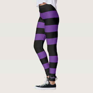 Purple And Black Leggings & Tights | Zazzle