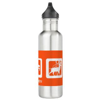 Personalized Deer in Crosshairs Eat Sleep Hunt Stainless Steel Water Bottle