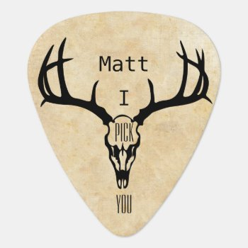 Personalized Deer Stag Buck Guitar Pick by samack at Zazzle