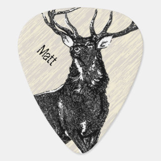 Personalized Deer Stag Guitar Pick
