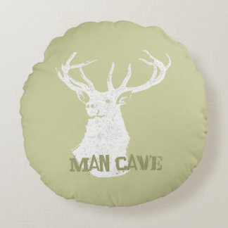 Personalized Deer Stag Round Pillow