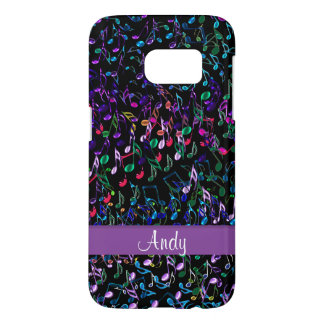 Personalized Delectable Music Notes Galaxy S7 Case