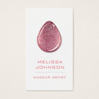 Personalized Delicate Pink Glitter Business Cart Business Card
