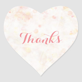 Personalized Delicate Pink Simply Heart Stickers