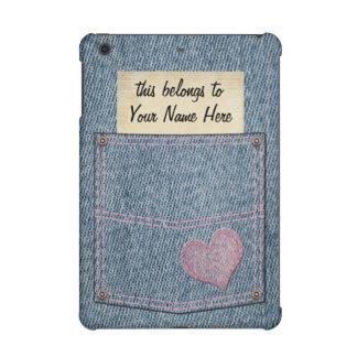 Personalized Denim Pocket iPad Mini Cases