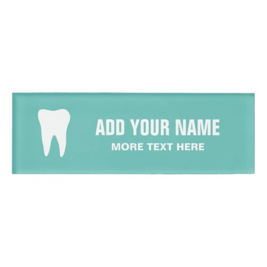 Personalized Dentist Office Magnetic Name Tags