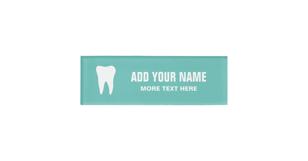 Personalized Dentist Office Magnetic Name Tags Zazzle Com