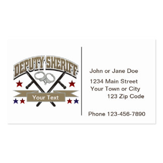Personalized Deputy Sheriff Double-Sided Standard Business Cards (Pack Of 100)