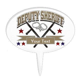 Personalized Deputy Sheriff Cake Topper