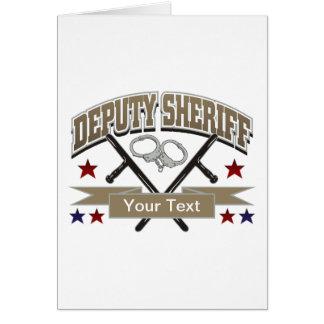 Personalized Deputy Sheriff Card