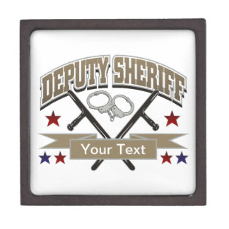 Personalized Deputy Sheriff Jewelry Box