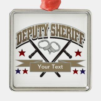 Personalized Deputy Sheriff Metal Ornament