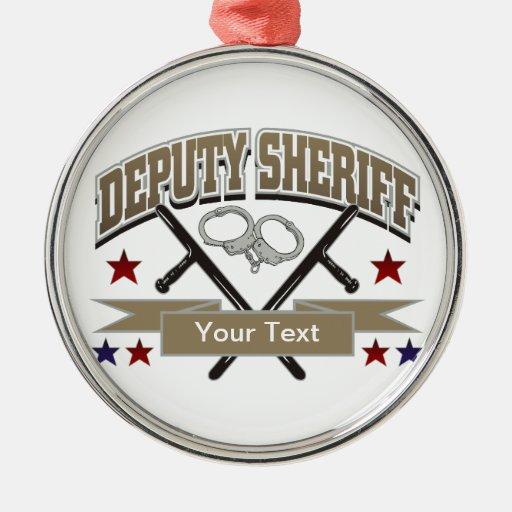 Personalized deputy sheriff metal ornament zazzle