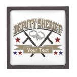 Personalized Deputy Sheriff Premium Keepsake Box
